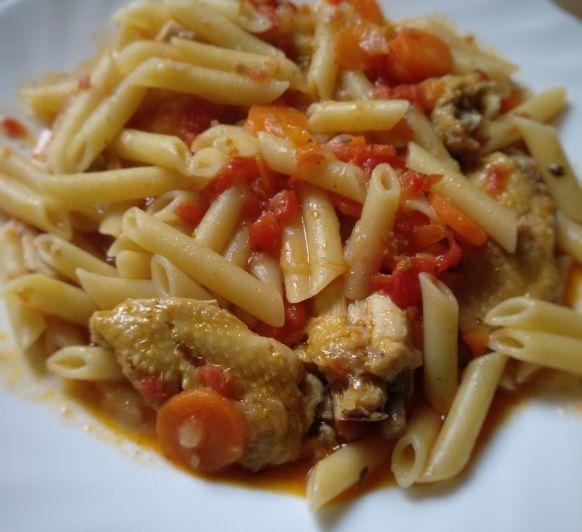 Los macarrones con alitas de pollo de la ''güela Marina''