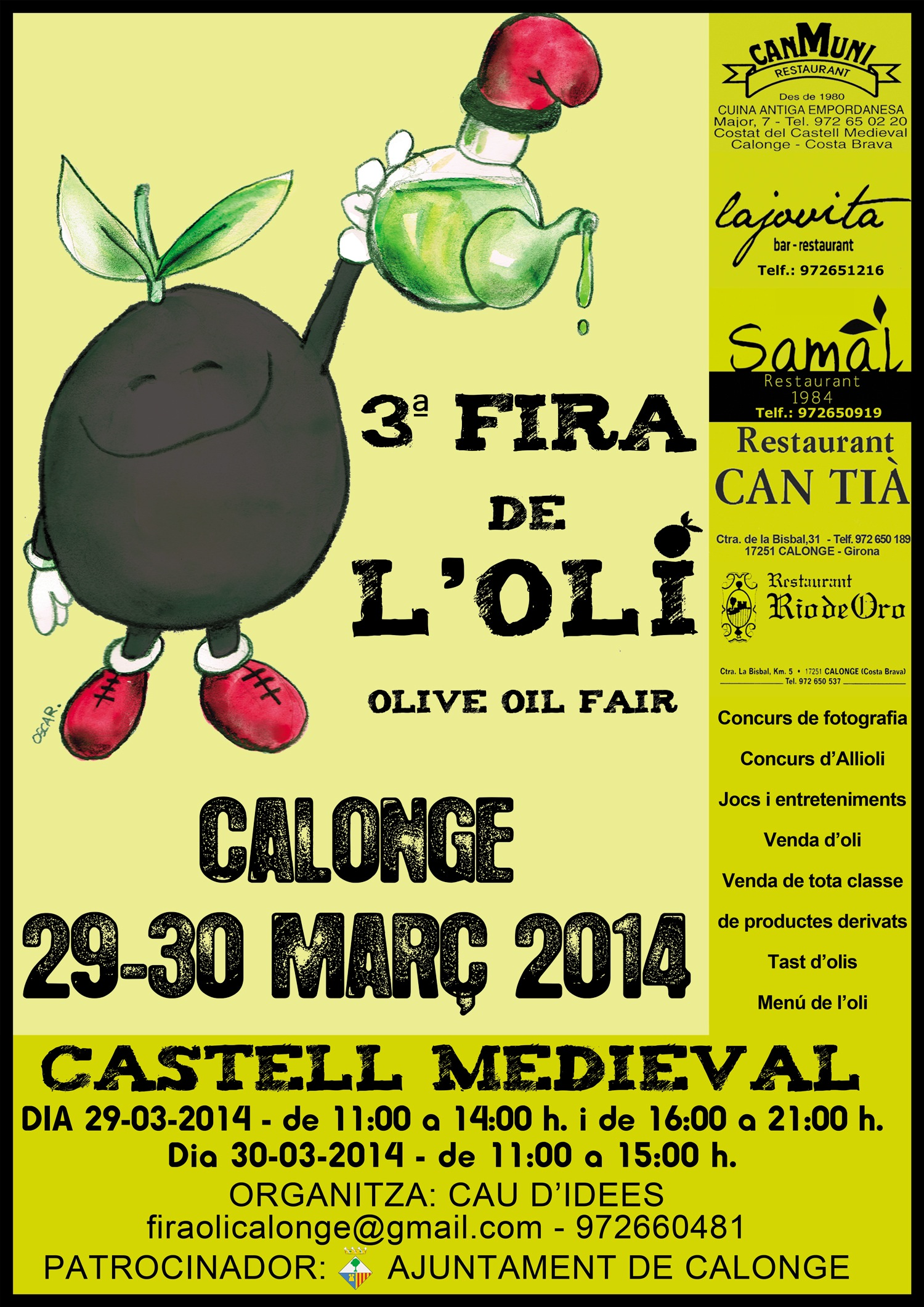 3a FIRA DE L'OLI DE CALONGE - 25/03/2014