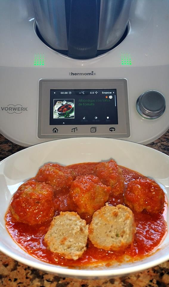 Albóndigas con salsa de tomate. Receta Guiada TM5