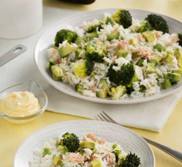 Como hacer arroz con brócoli, atún y aguacate con Thermomix®