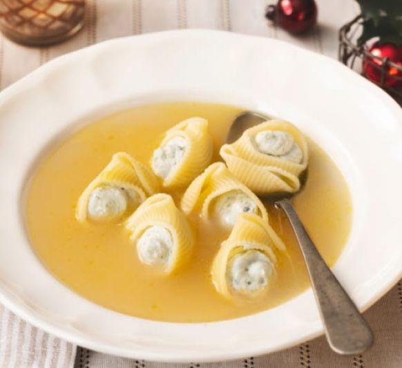 Como hacer sopa de navidad con galets rellenos con Thermomix®