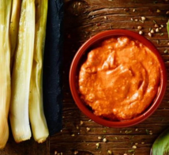 Como hacer salsa romesco para calçots con Thermomix®