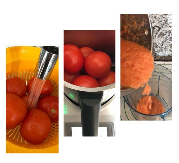 Salsa de tomata amb arròs al varoma