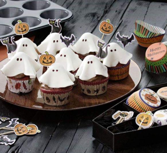 Como hacer cupcakes fantasma de Halloween con Thermomix®