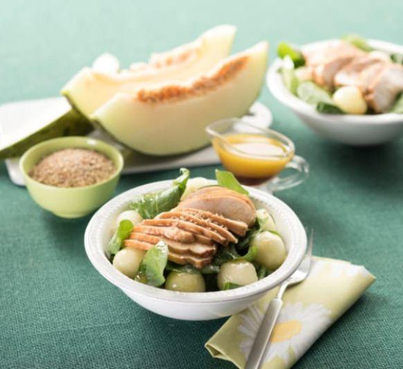 Como hacer ensalada de espinacas, pollo y melón con Thermomix®