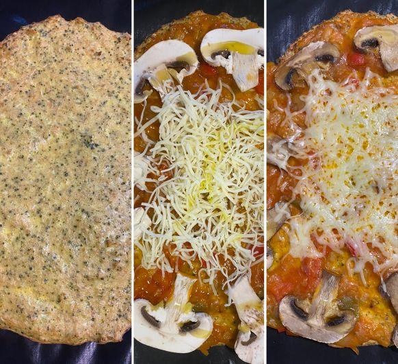 Pizza amb base de tonyina amb Thermomix®