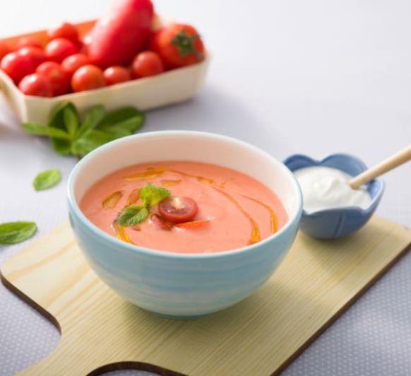 Como hacer sopa griega de tomate y yogur con Thermomix®