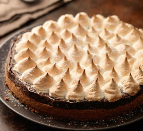 Cheesecake de chocolate con merengue con Thermomix®