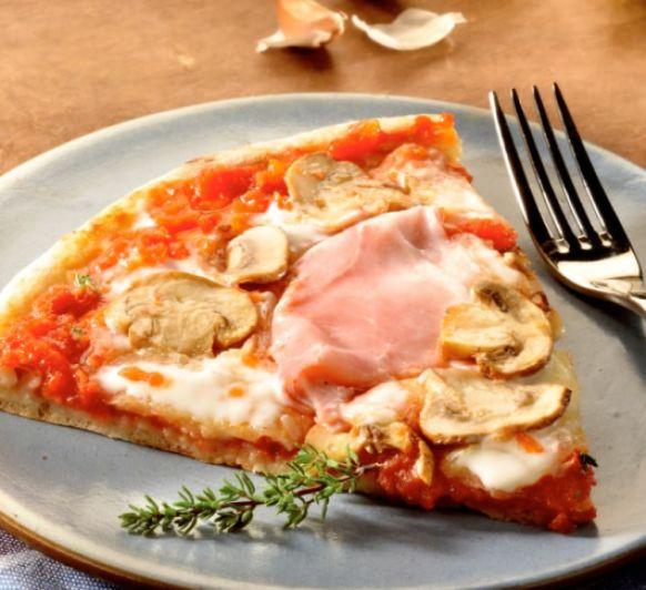 Pizza de jamón y champiñones con Thermomix®